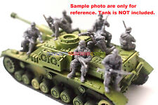 New Caesar 1/72 WWII German Soldier Tank Riders in Winter 7pc Figures Army Men