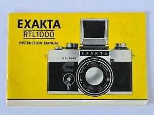 Exacta RTL1000 Original Camera Instructions Operations Manual