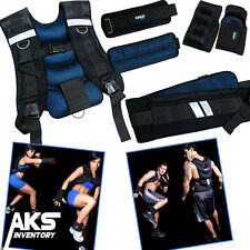 Weighted Vest Belt Gloves & Ankle Weights Full Body Training Exercise Set New