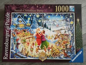 RAVENSBURGER 'Santa's Christmas Party' 1000 Piece Jigsaw Puzzle