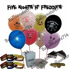 80 Pc Set - Five Nights at Freddy's Balloons, Bracelets, Stickers, Bags, Tokens