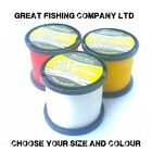 ROVEX 10X HIGH ABRASION SEA FISHING LINE - BULK 1/4 KG YELLOW / CLEAR / RED