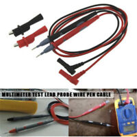 Silicone Digital Multimeter Multi Meter Test-Lead- Probe Wire Pen Cable 20A Pro