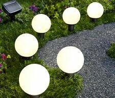 6er Solar Gartenstecker LED Wegbeleuchtung Kugeln Solarkugeln Gartendeko