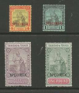 TRINIDAD & TOBAGO BETWEEN SG 152s &156s 1913-23 SPECIMENs LIGHTLY MOUNTED MINT