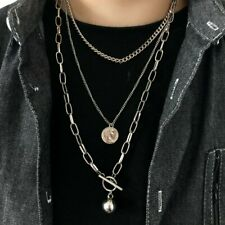 2021 Bohemia Multi-layer Pearl Chain Pendant Necklace Choker Charm Women Jewelry