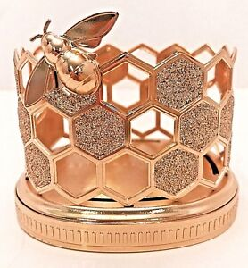 BATH & BODY WORKS CHAMPAGNE SWEET HONEYCOMB SOAP HOLDER FOR GF AND DC SOAPS NEW!