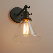 Permo Industrial Vintage Loft Bar Wall Light Sconce Funnel Glass LampShade Cone
