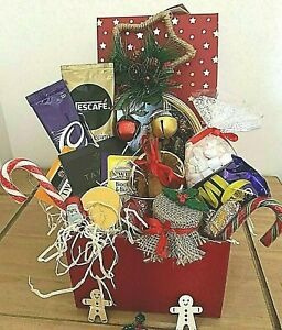 CHRISTMAS GIFT HAMPER FOOD AFTERNOON Tea COFFEE  FOR HER HIM FRIENDS decoration