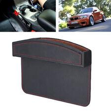 Universal Car Seat Gap Storage Box Coin Organizer Crevice Black Leather / ABS