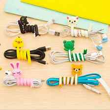 Cute Cartoon Animal Wire Cable Cord Holder Organizer Winder Manager Tie Wrap