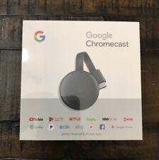 Google Chromecast 3rd Gen Digital Hdmi Media Streaming Device 2018 Version New