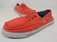 Sanuk Shipwrecked Mens Size 10 Salmon Lace Up  Boat Sidewalk Surfers Shoes