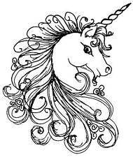 Unicorn Unmounted Rubber Stamp 7125