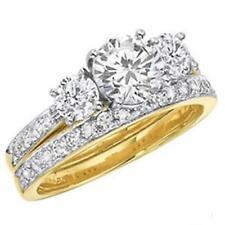 Damen Ring Zirkonia weiß 750er Gold 18K vergoldet Gr. wählbar gelbgold R1095L