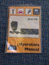 DNT M40 FM CB Operators Manual in its packaging Unused Vintage Cb radio