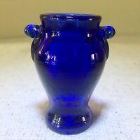 Boyd Cobalt Blue Glass Mini Urn Toothpick Holder