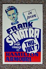 Frank Sinatra Concert Poster 1949 Hamilton Amouri