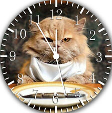 Cute Funny Cat Frameless Borderless Wall Clock Nice For Gifts or Decor E303