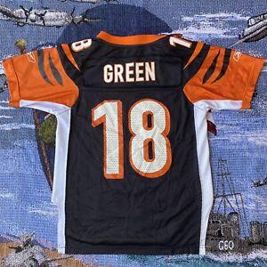AJ Green #18 Cincinnati Bengals Football Jersey - Size Youth Small (8) Reebok