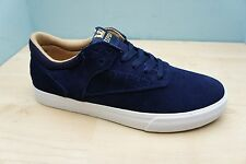 Supra Mens Size 7.5 UK Phoenix Blue Leather Suede Skater Trainers BRAND NEW