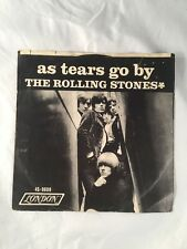 The Rolling Stones As Tears Go By with Sleeve 45 LP Album Record FREE SHIPPING