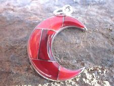 Moon Pendant Handmade Stone Inlay Made by Artesanas Campesinas Mexico New p2028