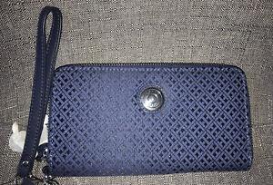 TOMMY HILFIGER Blue Logo Wristlet Wallet BNWT