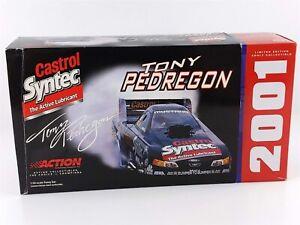 Action Tony Pedregon CASTROL SYNTEC MUSTANG FUNNY CAR 1:24 Diecast 2001 NIB