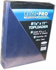 """Ultra Pro Toploader 8.5""""x11"""" Clear Holder 25 Pack [NEW] Case Top Loader CDG"""