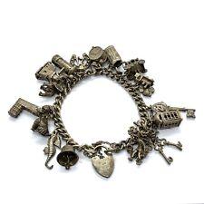 Vintage Sterling Silver Charm Bracelet #70