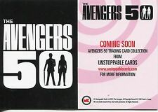 Avengers 50th Anniversary White Gloss Promo Card Unstoppable Cards
