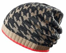 CODELLO 32098602 Poésie Grunge Beanie Bonnet tricoté hiver marron neuf [7]