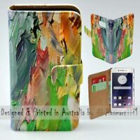 For OPPO Series - Oil Paint Theme Print Wallet Mobile Phone Case Cover