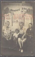 Vintage Photo 3 Women & Cute Boy in Memphis Zoo Photobooth Tennessee 747747