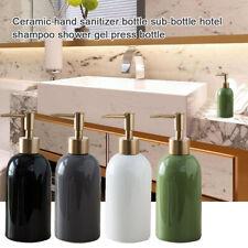 Bathroom Ceramic 420ml Liquid Dispensers Soap Shampoo Lotion Empty Pump Bottle