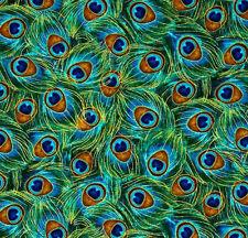 Handmade Blue Green Metalic Peacock Bird Feather Window Curtain Valance
