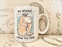 Vintage Go Ahead Make My Tea Mug ShoeBox Greetings Hallmark 1988 w/Free Gift Box