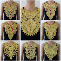 1Pc Women Sewing Applique False Collar Lace Garment Embroidered Neck Trim Ethnic