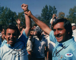 SEVE BALLESTEROS+TONY JACKLIN HAND SIGNED 8x10 COLOR PHOTO     RYDER CUP     PSA