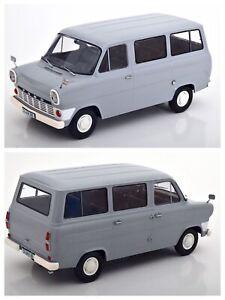 1/18 KK Scale Ford Transit MK1 Bus 1965 Grey Neuf En Boîte Livraison Domicile