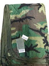 new Genuine US Military Surplus USGI Woodland Camo Poncho Liner WOOBIE Blanket