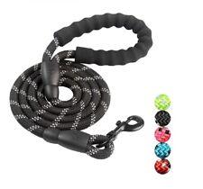 5 FT Service Dog Rope Leash Lead Training Padded Handle Reflective Nylon Puppy