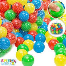 500x Bälle Babybälle Bällebad Ø7cm Plastikbälle Spielbälle für Kinder Ballpool