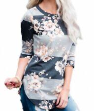Womens Shirt Sleeve Casual Blouse Tops Loose Long Fashion Women Medium
