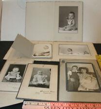 6 Vintage 1940s Photos Baby Photo Portrait Lot