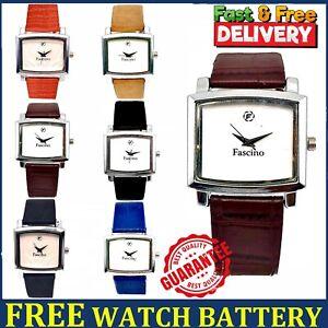 Ladies Women Wrist Watches Square Analogue Quartz Leather Belt Casual Girl Watch