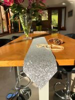 Glitter Fabric Table Runner for Christmas and Wedding Table Glitter Table Cloth