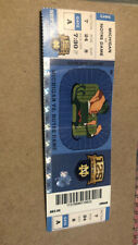 2012 Michigan Wolverines vs Notre Dame Fighting Irish Football Ticket Crease