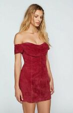 New Free People Maria Suede Bodycon Dress size 10 MSRP: $300